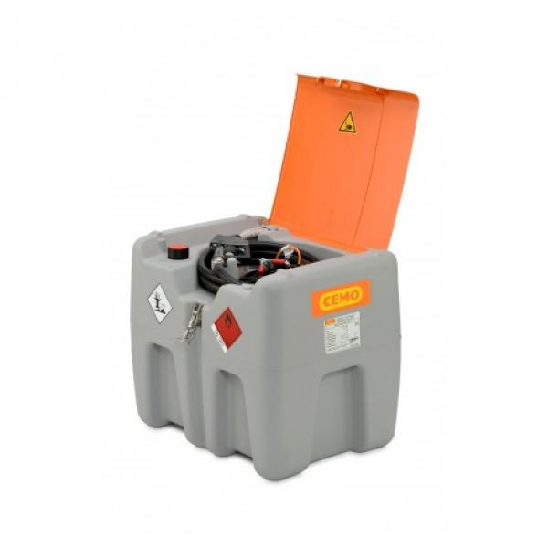 CEMO DT Mobile Easy 210 Litre Diesel Dispenser with CENTRI 12v Pump and Hinged Lid