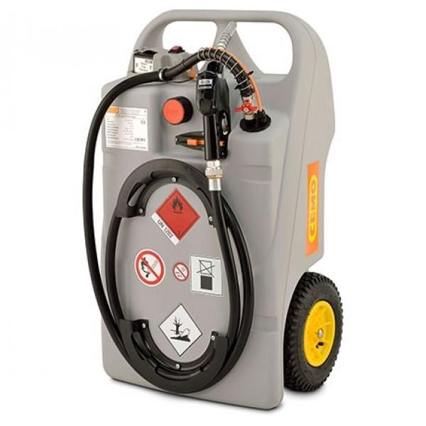 CEMO 100 Litre Diesel Trolley with 12v CENTRI Battery Pump, Charger and Automatic Nozzle