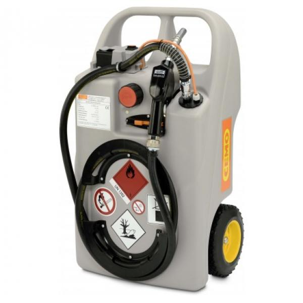 CEMO 60 Litre Diesel Trolley with 12v CENTRI Battery Pump, Charger and Automatic Nozzle