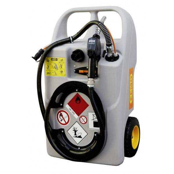 CEMO 60 Litre Diesel Trolley with 12v CENTRI Pump and Automatic Nozzle