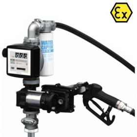 Piusi EX50 ATEX Fuel Transfer Pump Kit for Drums with Automatic Nozzle