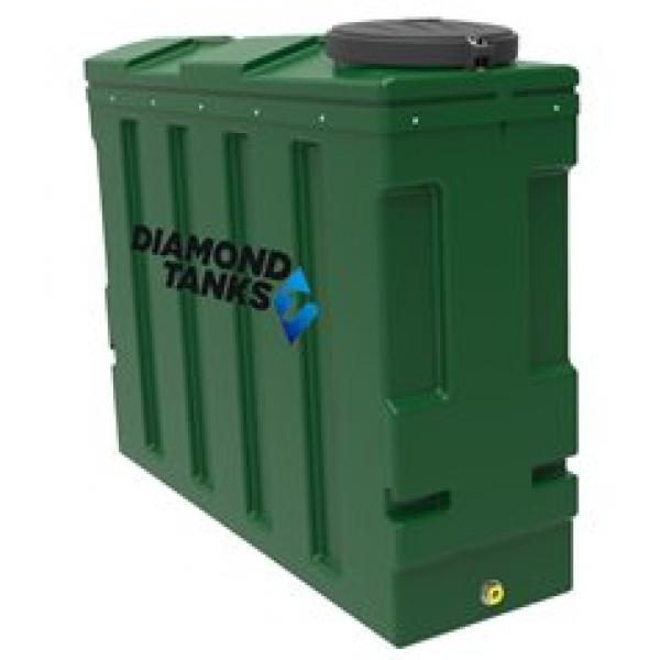 Diamond 1400 litre Super Slimline Bunded Heating Oil Tank with FREE Apollo Gauge and Filter Valve Kit