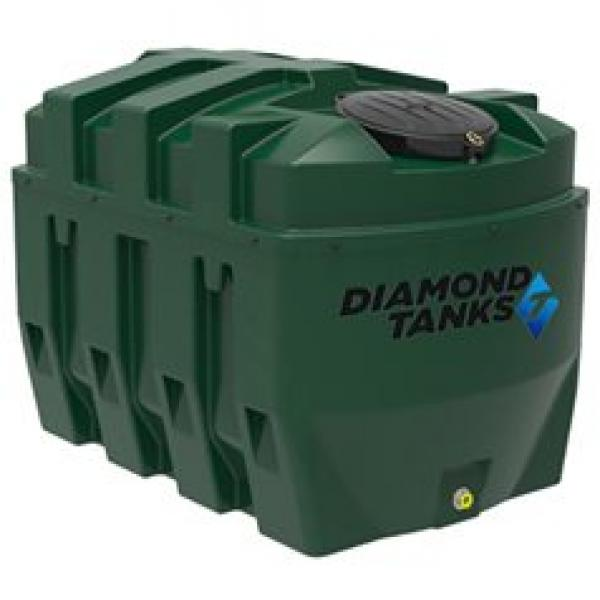 Diamond 1650 litre Bunded Heating Oil Tank with FREE Apollo Contents Gauge and Filter Valve Kit